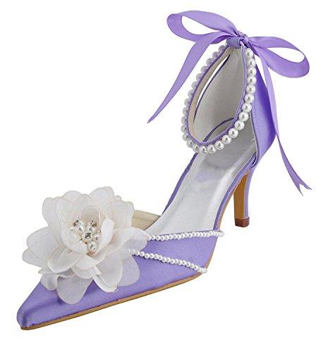 Minitoo , Chaussures de mariage tendance femme Blue-7.5cm Heel
