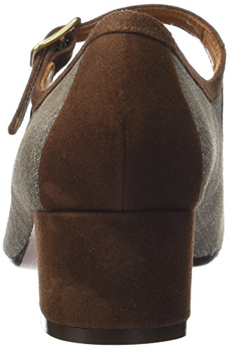 Chie Mihara Unstar, Mary Janes Femme Beige (Saco Taupe Ante Castaño)