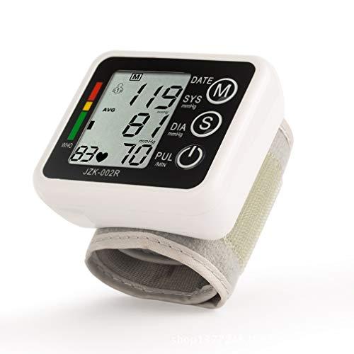 ZUZEN Automatische Messung des Blutdruckmessgeräts am Handgelenk 2 x 90 Speicher Hochpräzises Daten-Blutdruckmessgerät - Verhindert hohen Blutdruck