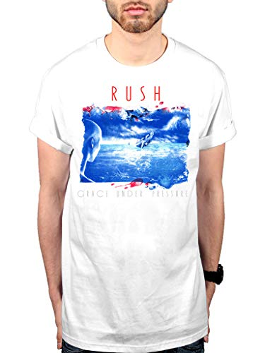 Official Rush Grace Under Pressure T-Shirt Starman 2112 Rock Band Feedback Signals