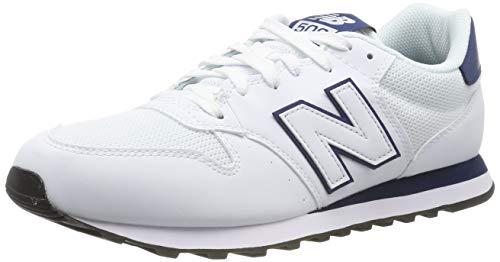 New Balance Herren 500v1 Sneaker, Weiß White, 44.5 EU (Weißen Leder New Balance Schuhe)