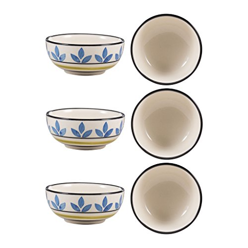 Dining Katori Bowl Ceramic/Stoneware in Blue Asmiya Handmade By Caffeine-Set of 6