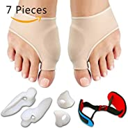 7Pcs/Set Bunion Corrector Gel Pad Stretch Nylon Hallux Valgus Protector Guard Toe Separator Orthopedic Supplies Foot Care To