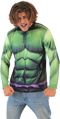 Banner Kostüm Bruce (Marvel IncRotible Hulk sublimiert LONG SLEEVE Kostüm T-Hemd (Erwachsener)
