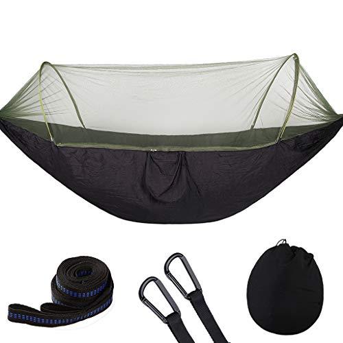 MA87 Hängematte mit im Freien Moskitonetz Camping Tragbare Hängematte (Schwarz)