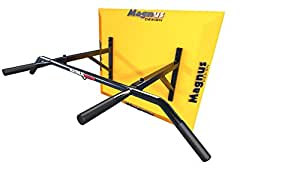 MAGNUS® POWER MP1033 - ORIGINAL - Pull-Up Bar (WALL Mounted) 4 Grips + Hook for Suspension Trainer / Punch BAG