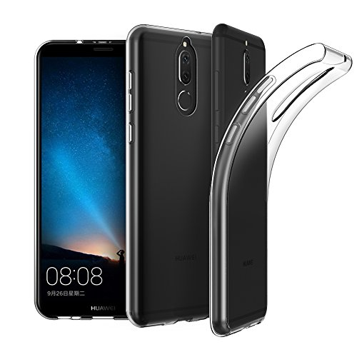 EasyAcc Huawei Mate 10 Lite Hülle Case, Dünn Crystal Clear Transparent Tasche Handyhülle Cover Soft Premium-TPU Durchsichtige Schutzhülle Backcover Slimcase für Huawei Mate 10 Lite