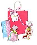 GEBURT MÄDCHEN Geschenktüte Präsentkorb Geschenkkorb girl STEiNBECK Schokolade Herzen Geschenk süß Geschenkset Herzlichen Glückwunsch Mama Papa Schokolade pink