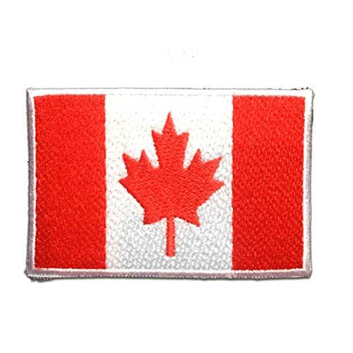 Aufnäher/Bügelbild - KANADA Flagge Fahne - rot - 7.4 x 4.9 cm - Patch Aufbügler Applikationen zum aufbügeln Applikation Patches Flicken (Kanada Jacken)