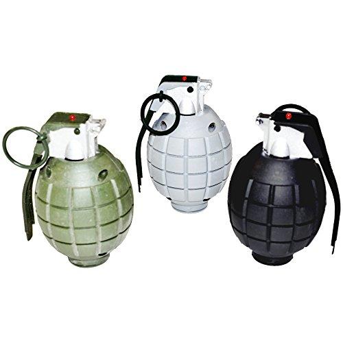 3 Handgranaten mit Licht und Sound Handgranate für Kostüme Gangster GSG 9 Special (Zubehör Kostüm Fallschirmjäger)