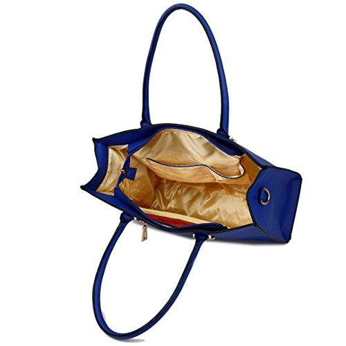 Miss Lulu , Damen Tote-Tasche 1509 Navy