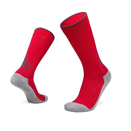 WADUANRUN Herren Stutzenstrumpf Outdoor Fußball Socken Kinder Tube Training Handtuch Socken S (33-38) rot - Nike Größe Jungen 6 Basketball-schuhe
