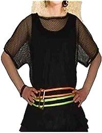 Islander Fashions Girls Maglia Manica Corta a Rete Top Donna Girocollo  Fantasia Fancy Party Shirt Top Taglia Unica Taglia… 0006d9b8dc9