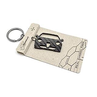 BlackStuff Mito Gta Carbon Fiber Keychain Keyring Ring Holder BS-132