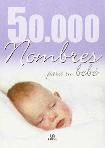 Portada del libro 50000 nombres para tu bebé