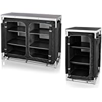 Campart Travel Set of 2 x Heavy Duty Durable Foldable Outdoor Kitchen Wardrobe