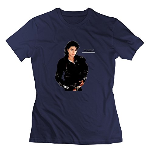Grau inoffizieller verschiedenen Michael Jackson T-Shirt Frauen Personalisierte XXL navy (Dye Tie Michaels)