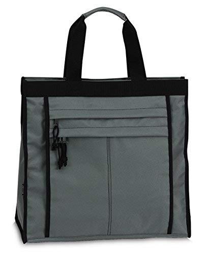 Einkaufstasche Shopper Tasche Umhängetasche Strandtasche Innenfach + 2 Außenfächer mit Reißverschluss - Grau