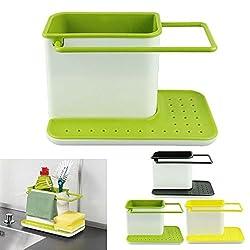 Styleys 3 IN 1 Kitchen Sink Organizer for Dishwasher Liquid, Brush, Cloth, Soap, Sponge, etc.