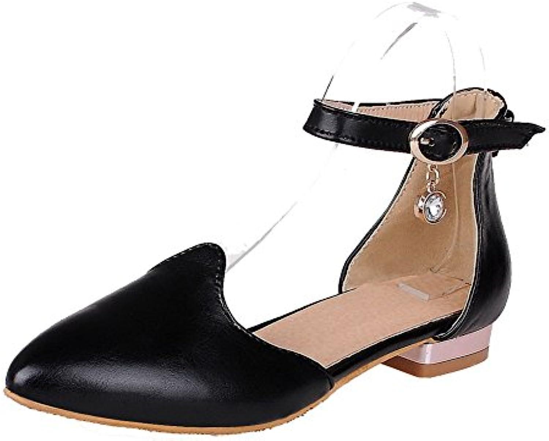 des femmes est faible odomolor talons de chaussures à à à bouts pointus boucle de solides pompes, noir, 38 b07bbfh9 1z parent 3c169e
