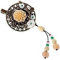 XYCZG-Ethnic Hair Clips Antiguos de Carpetas Tassel Decoraciones Accesorios para el Cabello de Adultos la Mitad de los Clips de la Cabeza