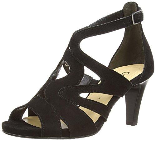 Gabor Shoes 21.820.17 Damen Knöchelriemchen Pumps ,Schwarz (schwarz (LFS rot)) ,37.5 EU