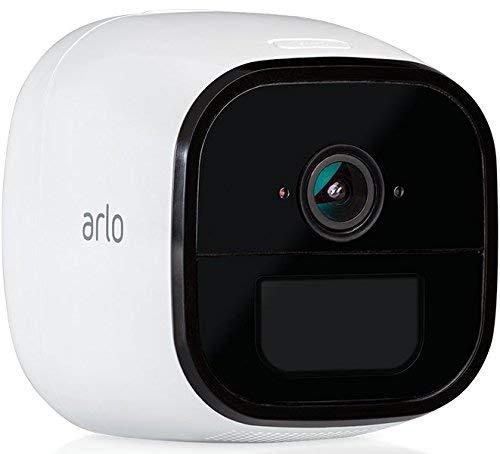Arlo Go kabellose Innen/Außen LTE 1 HD Überwachungskamera (3G/4G-LTE, Wetterfest, Nachtsicht, 2-Wege-Audio, kostenlose Cloud-Aufzeichnung) weiß, VML4030
