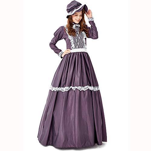 Mädchen Maid Kostüm Renaissance - HJG Retro Gericht Puff Kleid Lolita Lace Maid viktorianischen Kostüm Frauen, Prinzessin Bowknot Multi Schichten Röcke für Mädchen,S
