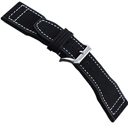nuevo-22-mm-iwc-negro-correa-de-piel-reloj-de-banda-iwc-pilot-ss-hebilla