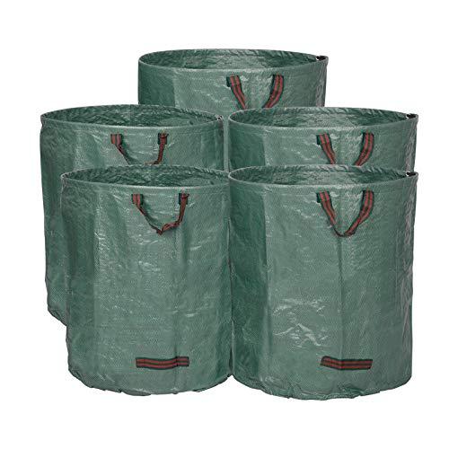 *WOLTU® 5X Gartensack 272L Abfallsack Selbstaufstellend Laubsack Gartenabfälle Sack Gartentasche PP 150g/m²*