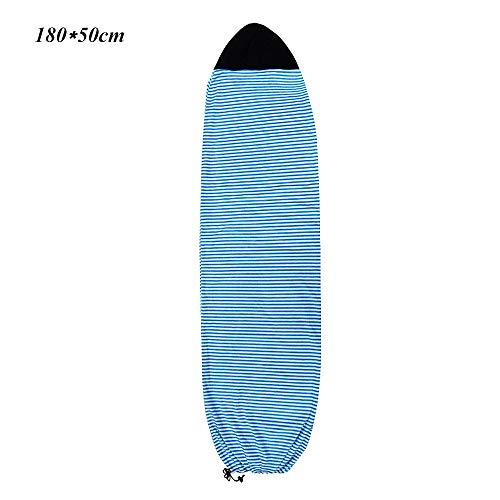 BETTERLE Surfboard Socken Elastische Surfbrett Schutzhülle Wakeboarding Staubdichter UV-Sunblock Shield-Schutz Boardtaschen für 6,3 \'\' / 6,6 \'\' / 7 \'\' Surfboard (Blue, 180x50cm)