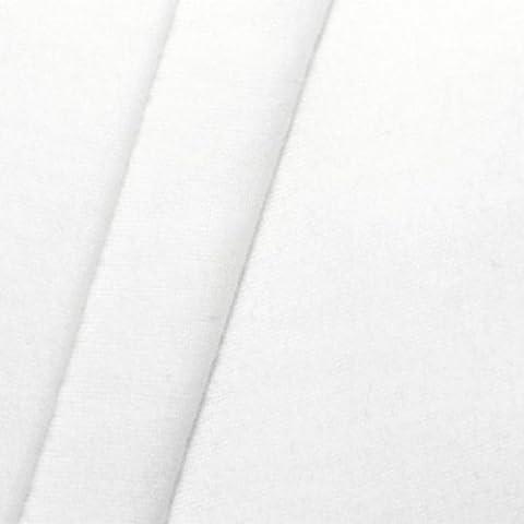 Tissus en molleton de décoration B1 / M1 largeur 300cm couleur: Blanc