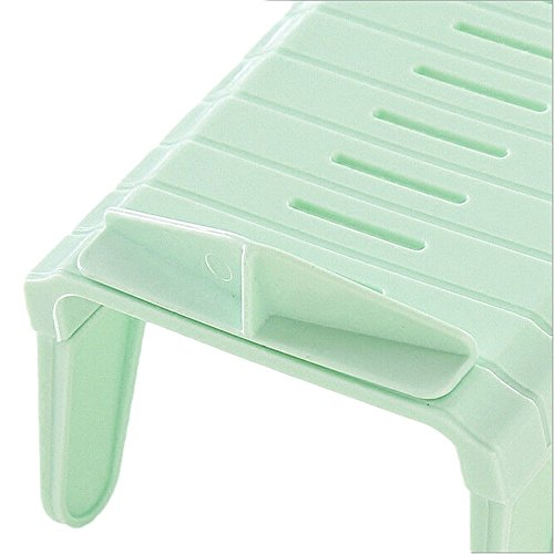 Pinzhi Green Creative Plastic Shoes Rack Organizer Space – Saving Storage Adjustable Durable 41Tg4Huo6cL