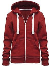 Vainilla Inc© nuevo Plus tamaño sudadera con capucha Ladies para mujer con cremallera con capucha con cremallera chaqueta Coat Top Sudadera con capucha 8–28