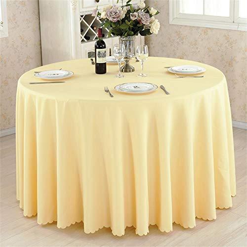 Gelbe Runde Hotel Round Table Cloth Restaurant Hochzeit Tischdecke Konferenztisch Abdeckung...