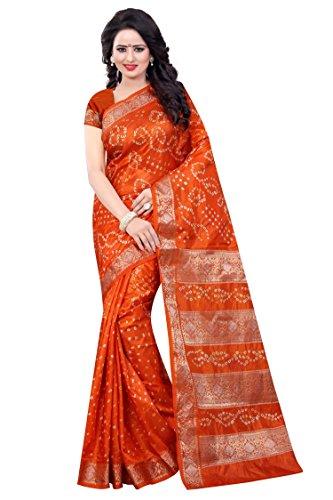 Dealsure Women's Multicolor Silk Bandhani Saree