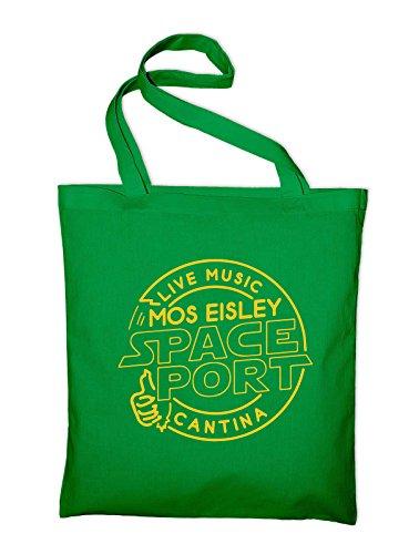 Mos Eisley Space Port Bar Live Music Band Fun Fan Jutebeutel Grün