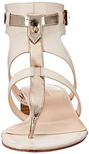 Nine West Justnice Robe en cuir Sandale Off White/Gold