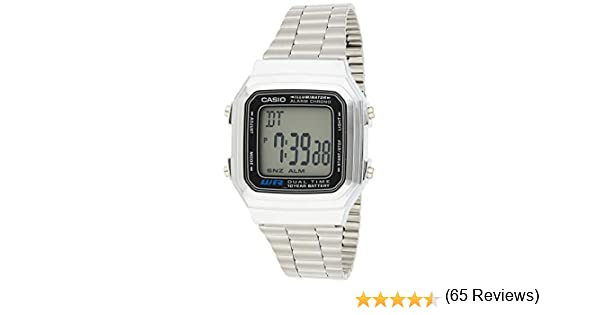 Casio A178WA 1A Vintage Montre Mixte Quartz Digital fxFNJ