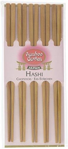 Bamboo Garden Hashi - Ess-Stäbchen Sushi-Stäbchen Essstäbchen aus Holz, Sushi Besteck, perfekt für asiatische Gerichte, Menge: 2 x 5 Stück China Teller