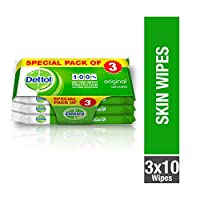 Dettol Original Anti-Bacterial Skin Wipes - Pack Of 10, 2+1 Free