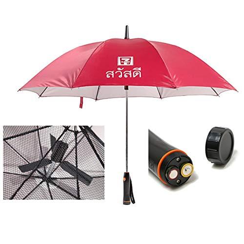 Parapluies de golf Parapluie anti-UV avec ventilateur intégré Par Grand parasol pour bâton...