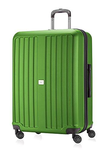 Capitale Valise série xberg Vert pomme avec combinaison TSA Mat 75 cm + petite poche Culture