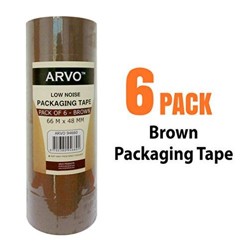 Klebeband / Packband / Paketband / Paketklebeband / Leise abrollend / 6 Rollen | 66 m x 48 mm - BRAUN