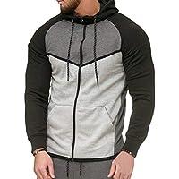 Männer Fleece-Sport Jogger-Taschen-Hosen Beiläufige Patchworkhose Bottoms Jogginghose Sweatpants M-3XL