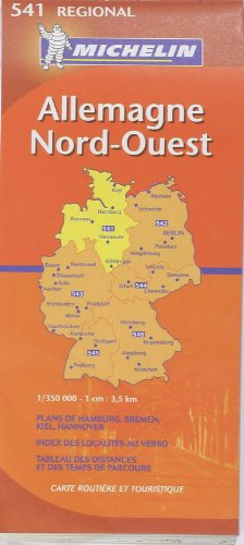 Allemagne Nord-Ouest 1/350 000