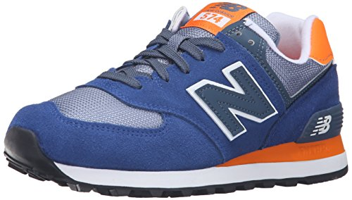 New Balance 574, Zapatillas de Running para Mujer, Multicolor (Navy/Orange 417), 38 EU