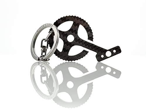 Llavero de fibra de carbono pedales de bicicleta