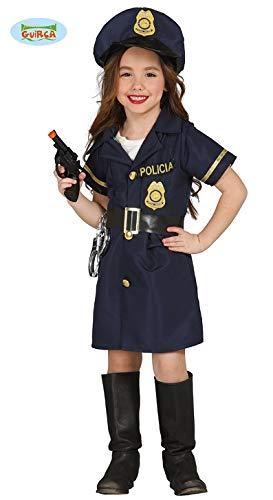 Guirca Polizei Kostüm für Mädchen Polizistin Kleid Polizeikostüm Gr. 98-146, - Mädchen Polizei Uniform Kostüm