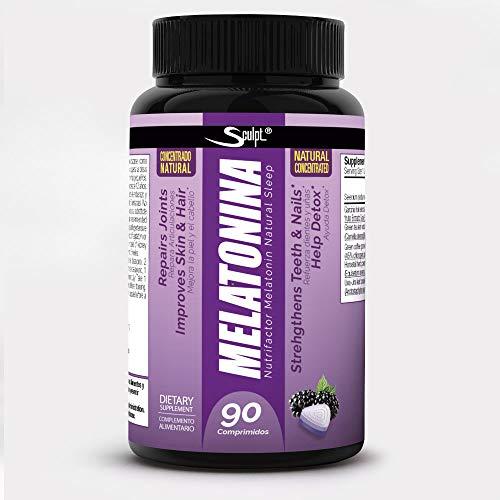 Melatonina Hormona del sueño, sabor naranja, Descanso, Jet lag, dormir mejor, Reduce el insomnio,...
